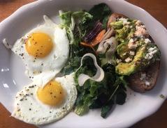 Avocado toast & eggs