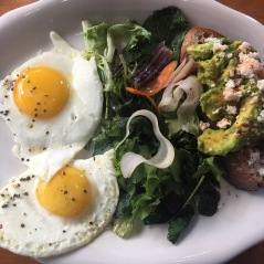 Avocado toast & eggs